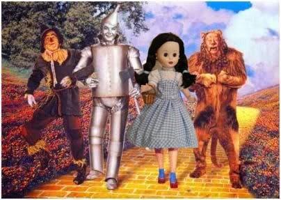 Cartel de la pelicula El Mago de Oz con Nancy de Famosa