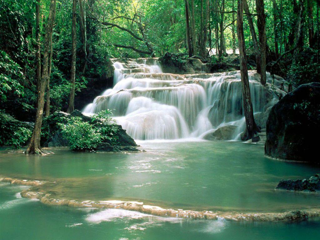 YouWall Marvelous Waterfall Wallpaper wallpaperwallpapers