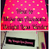 How to Make an Awesome Weight Loss Binder - Getting organized on your weight loss journey is the key to success!