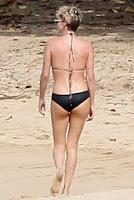 English: Charlize Theron Black Bikini Hawaii