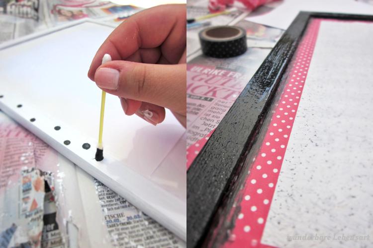 DIY Pinnwände schwarz weiß
