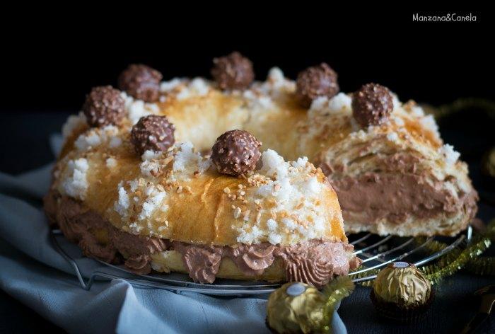 Roscón de Reyes Ferrero Rocher® (con masa madre). Receta de Navidad