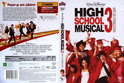 Filme High School Musical 3 - Ano da Formatura DVD Capa