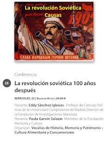 """Charla """"La Revolución Soviética, 100 años después"""""""
