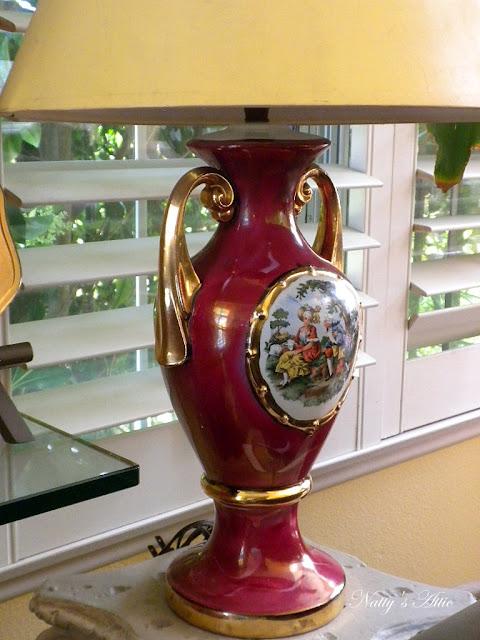 Vintage George & Martha Washington Lamp - Picture Unique Arts Fragonard Paintings