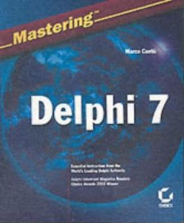 Mastering Delphi 7 Cover