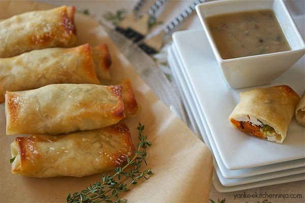 poutine spring rolls - a unique appetizer or light meal