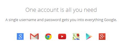fasiitas akun google