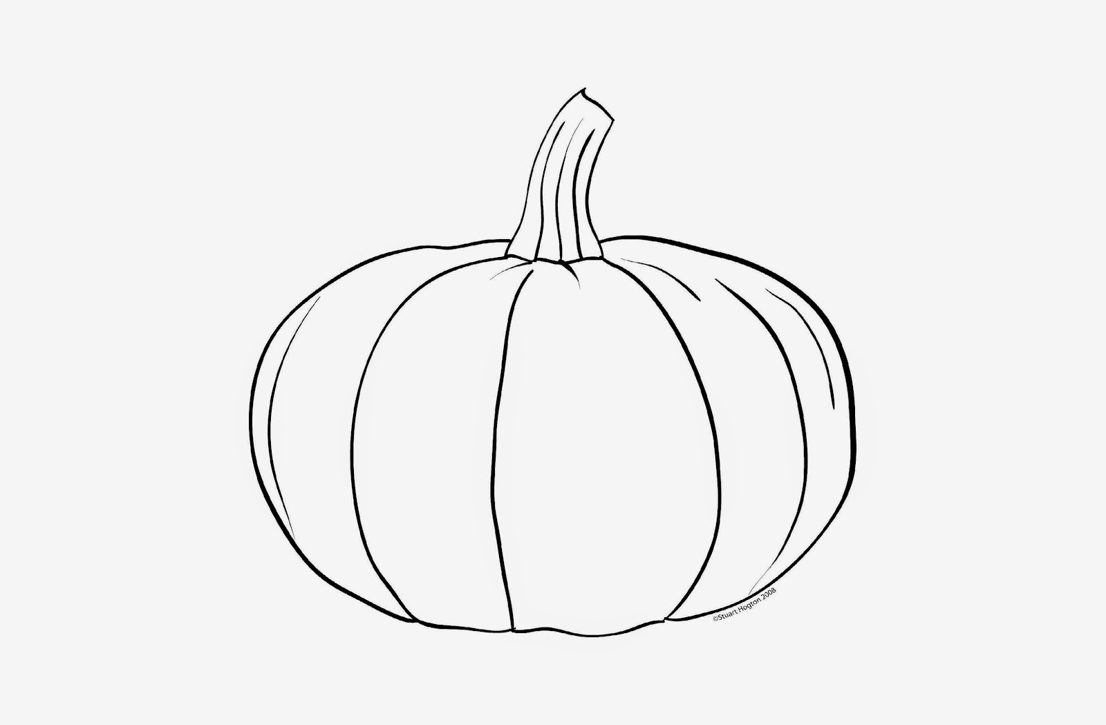 Pumpkin Pictures To Color | Free Coloring Pictures