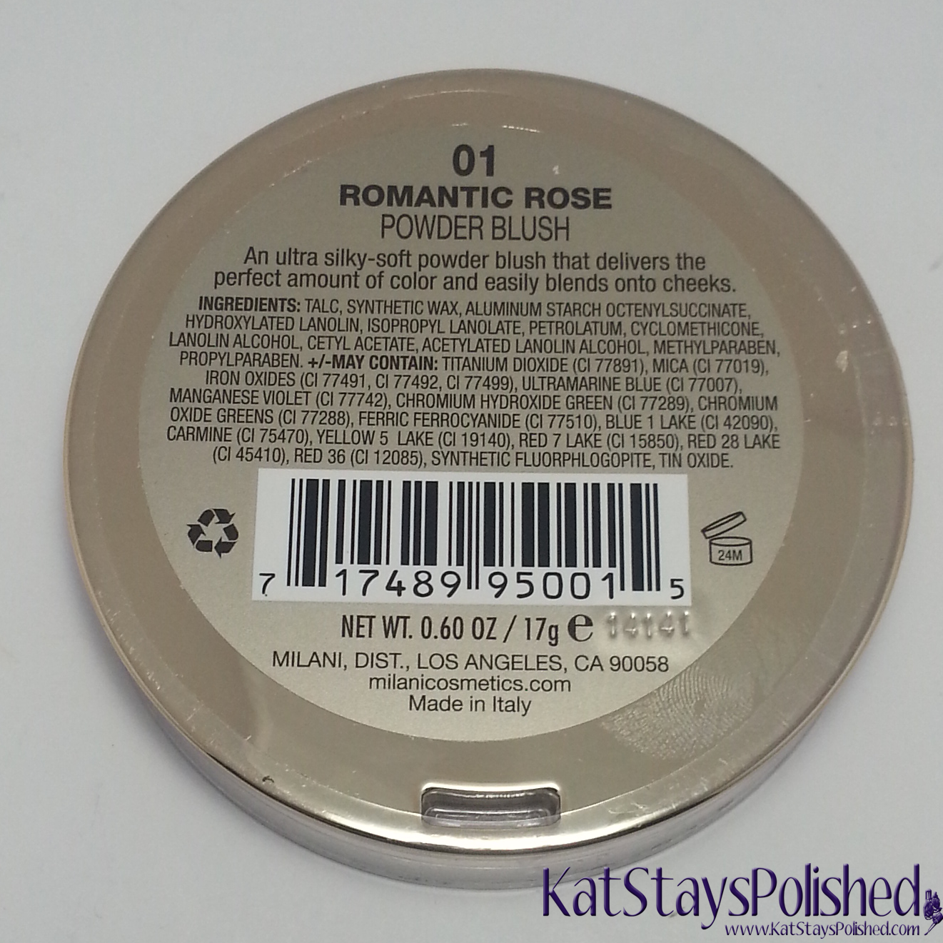 Milani Rose Powder Blush - Romantic Rose | Kat Stays Polished