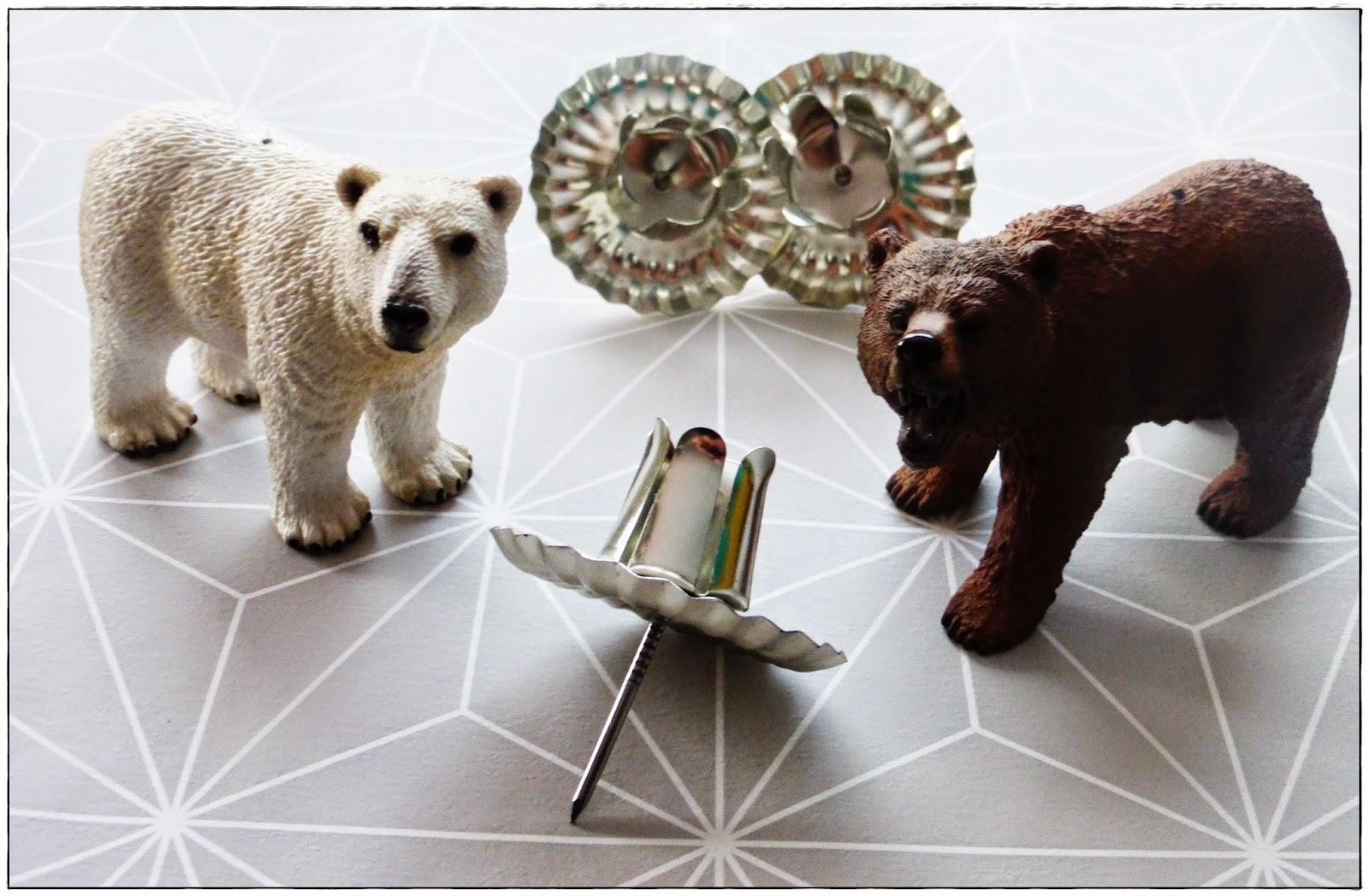 Material für DIY Upcycling Kerzenständer aus Spielzeugtieren