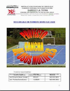 Cancha Deportiva Múltiple