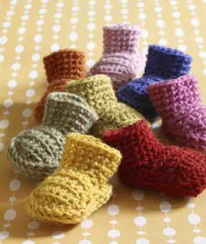 Newborn Baby Booties Crochet Pattern - Free Crochet