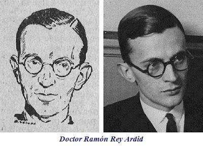 Dibujo y foto del Doctor Ramón Rey Ardid