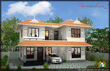 2000 Sqft House In 3.5 Cent Plot - Architecture Kerala