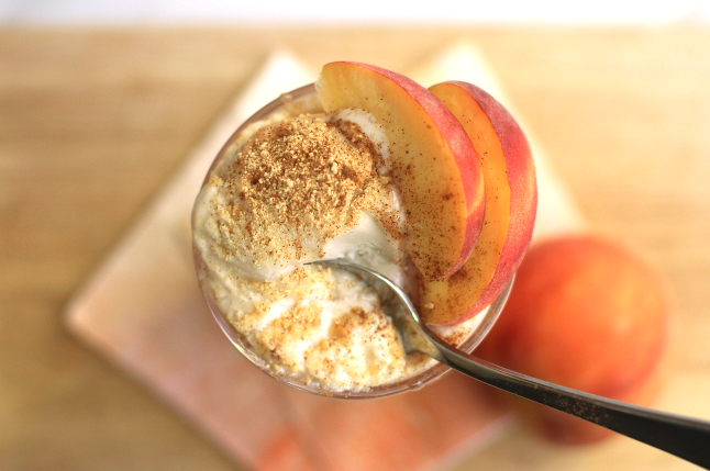 peach pie ice cream float