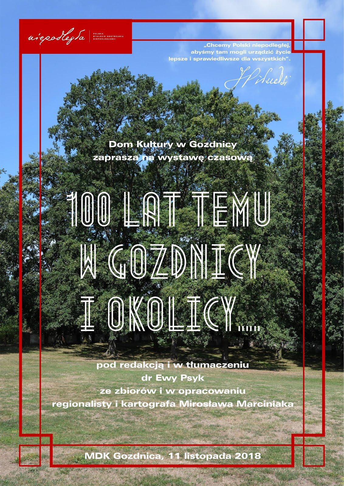 Zaproszenie na wystawę 100 lat Gozdnicy