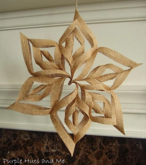 snowflake burlap