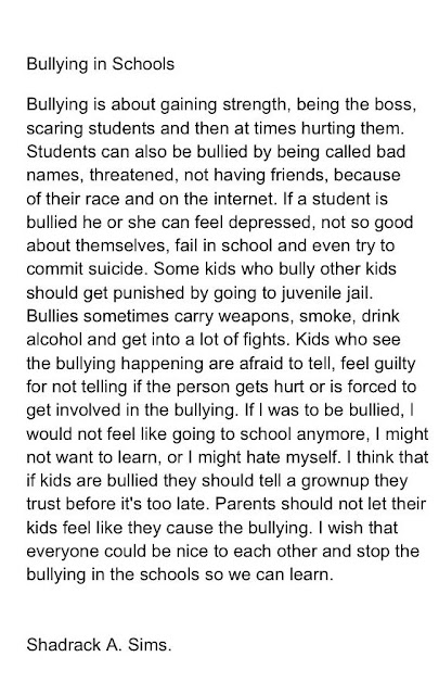 Write my essay on bullying in school