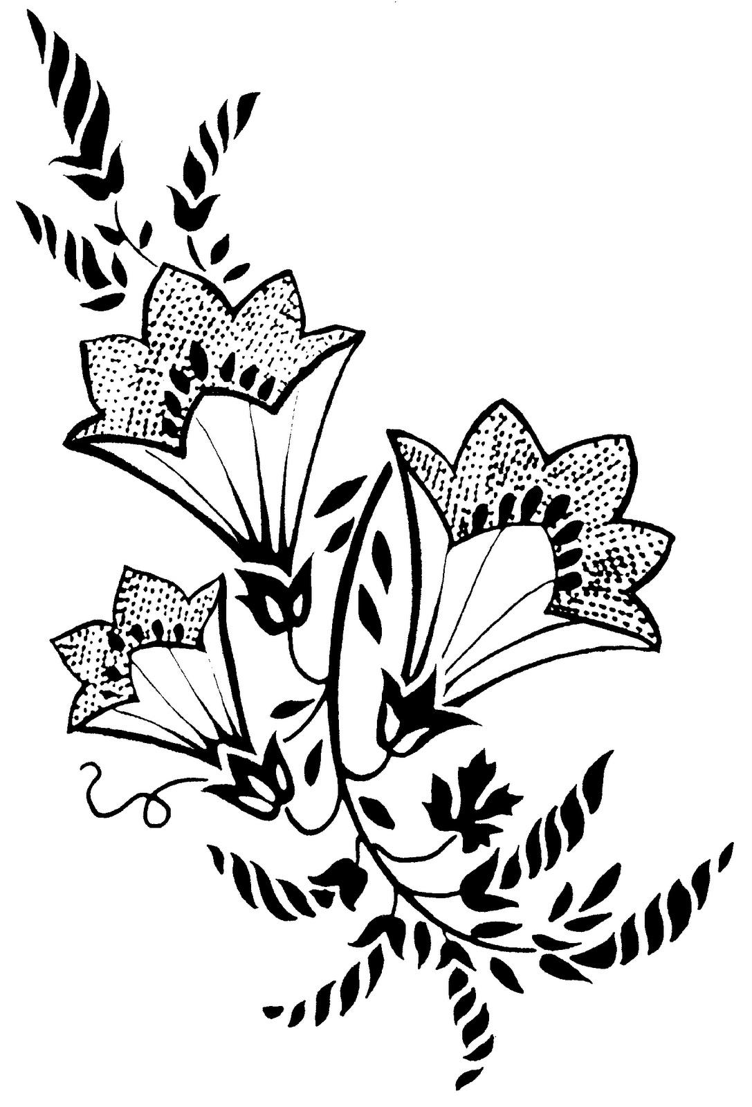 Рисунок или трафарет цветов своими руками