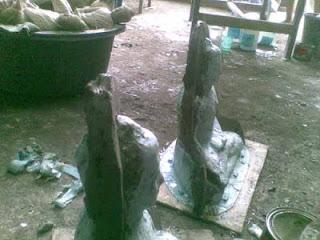 pembatas sambungan potongan cetakan patung