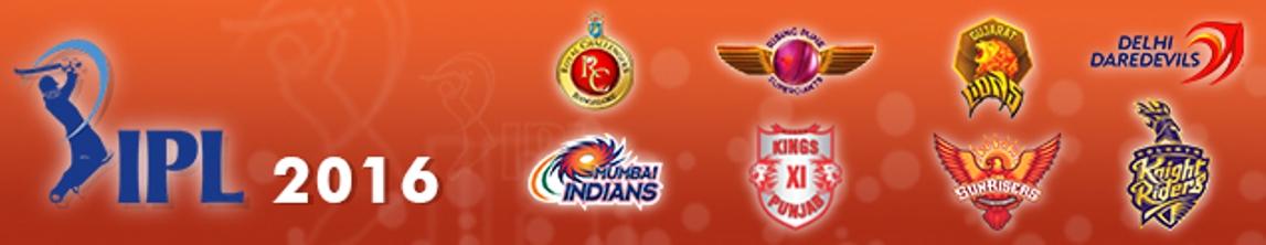 IPL T20 CRICKET 2016