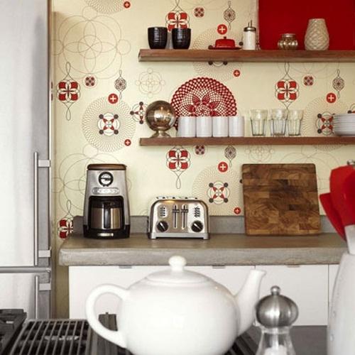 Decora y disena 24 ideas de papel tapiz en la cocina - Papel para cocinas ...