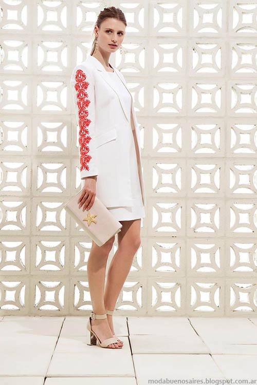 Traje de mujer, chaqueta + vestido, clección Clara primavera verano 2015.