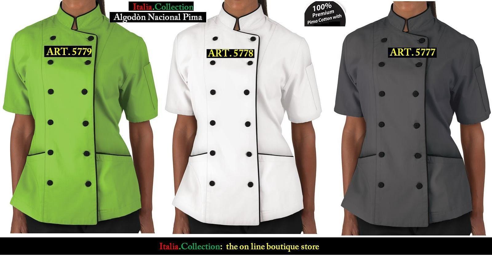 Italia collection the on line boutique store uniforme de - Uniformes de cocina ...