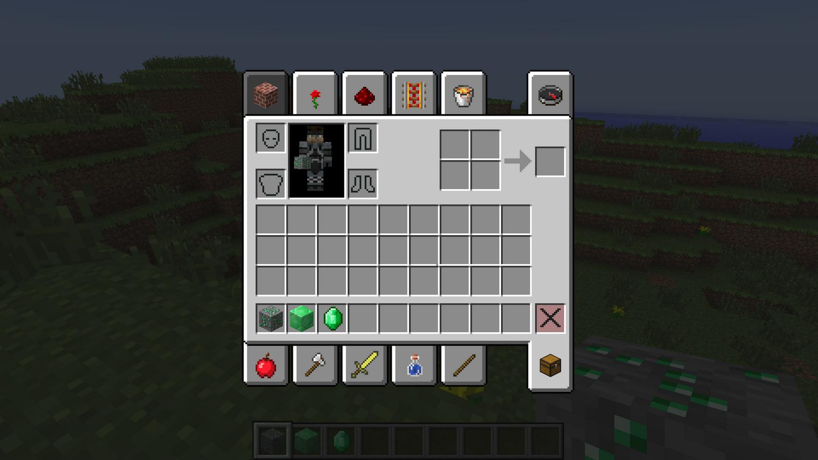 minecraft inventory wallpaper