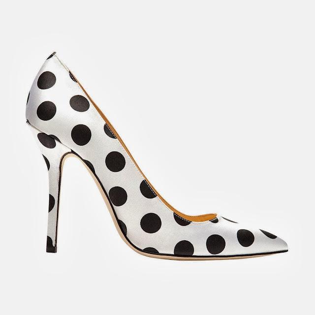 Oscar+de+la+Renta+Mimi+satin+polka-dot+pumps