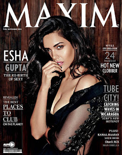 Esha Gupta on cover page of Maxm INdia Sep 2015