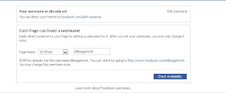 Change username of Facebook Page or Profile