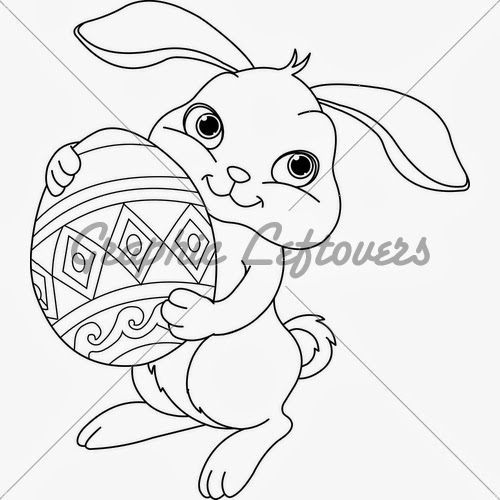 8 Free Printable Easter Bunny Coloring Pages With Eggs