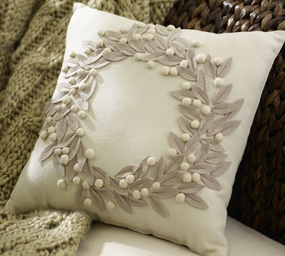 Pottery Barn Pillow - The Decorated House