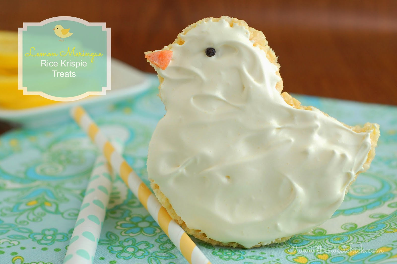 Lemon Meringue Rice Krispie Chick by The Sweet Chick
