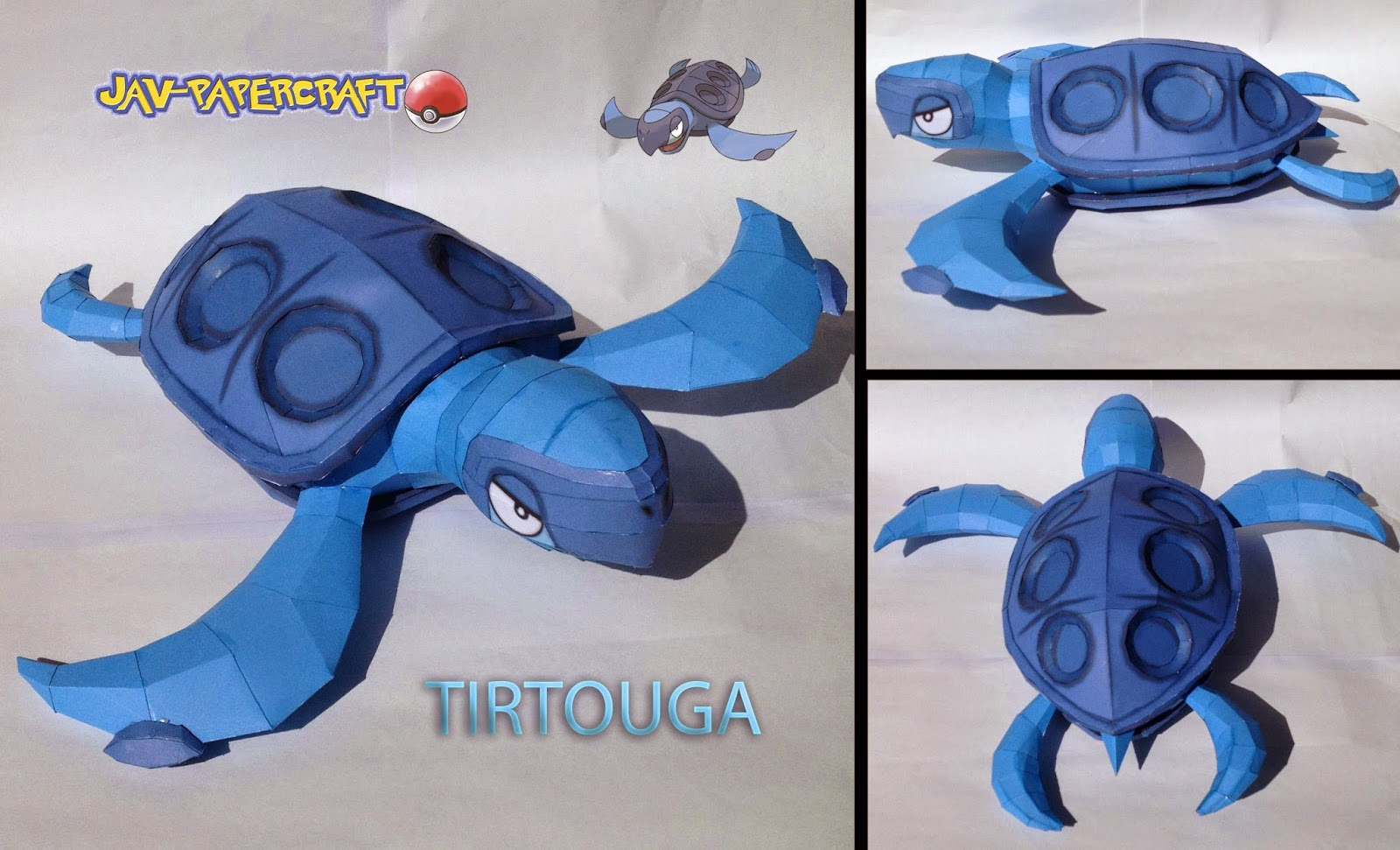 Pokemon Tirtouga Papercraft