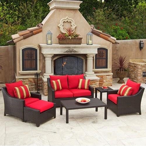 muebles patio y jardin rojo patios y jardines