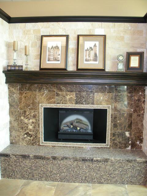 Chimenea decorativa con marmol pisos y reposteros en - Chimenea decorativa madera ...
