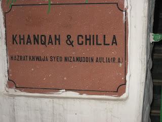 At the Nizamuddin Sufi khanka and chilla