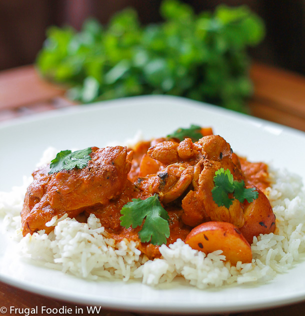 click for a flavorful recipe for tomato yogurt chicken curry