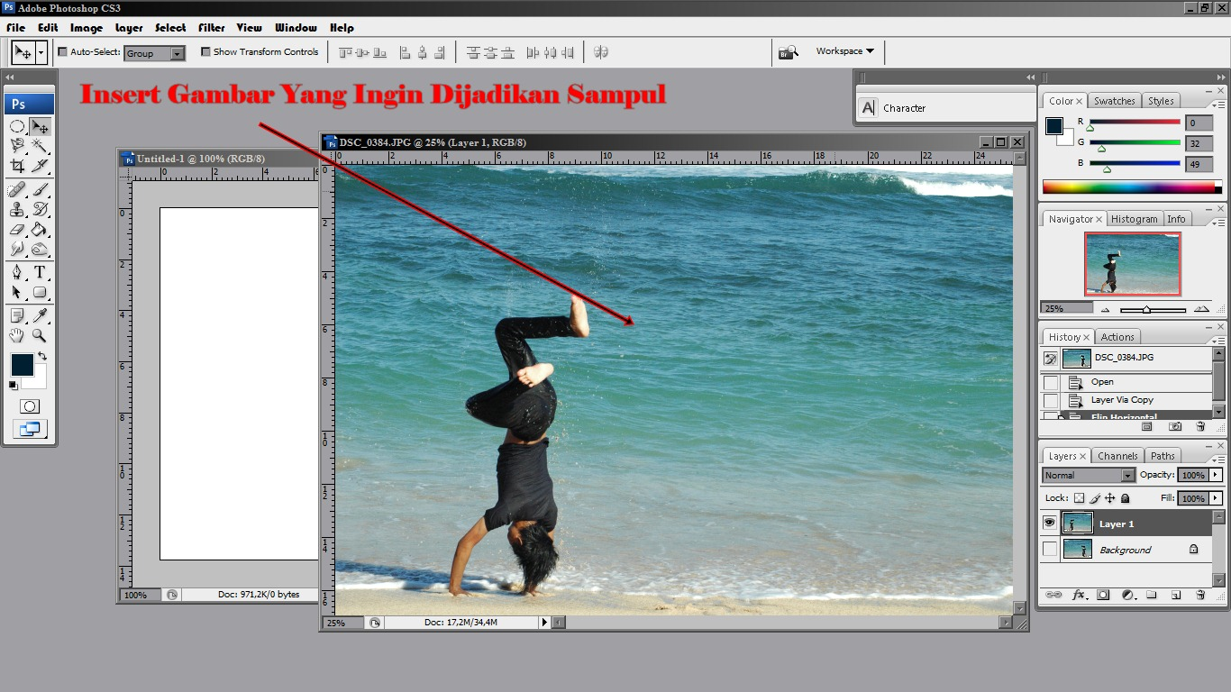 Cara menerangkan foto dengan photoshop cs2 88