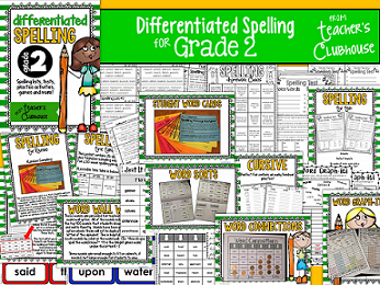 https://www.teacherspayteachers.com/Product/Differentiated-Spelling-for-2nd-Grade-1366944