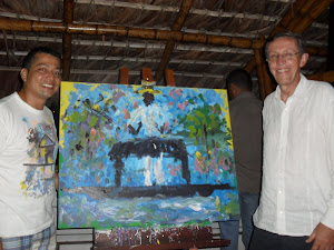 Antonio Navarro Wolf con el maestro Marcos  Unigarro