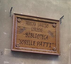 A Corleone, sarà inaugurata sabato prossimo in via B. Verro la biblioteca «Sorelle Patti»