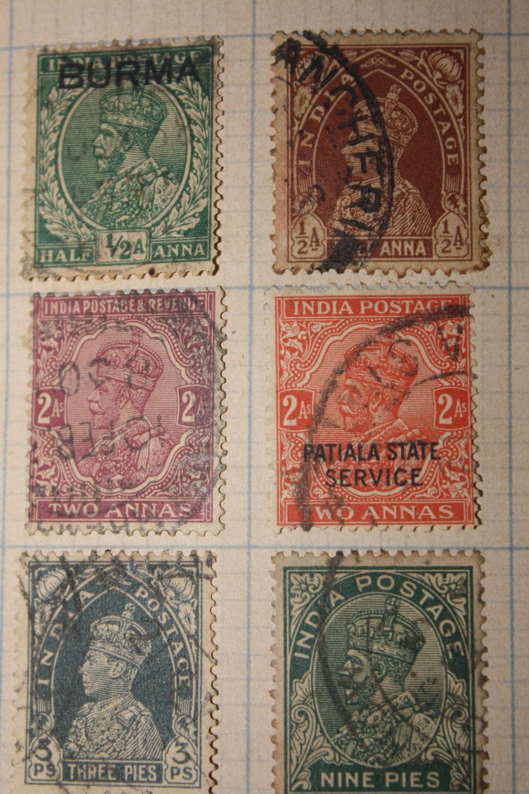 Vintage postage stamp bien son