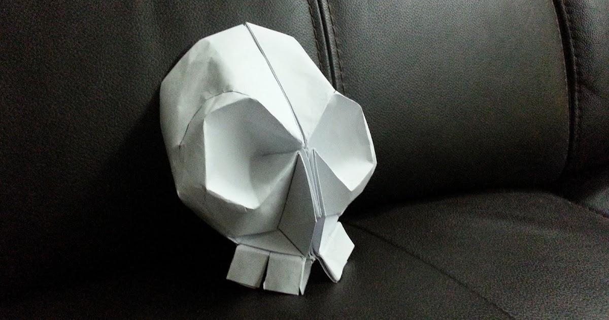 Origami Skull Simple Origami For Kids