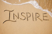 Word Inspire on the beach