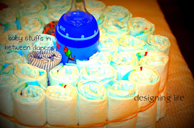 Rolled Diaper Cake