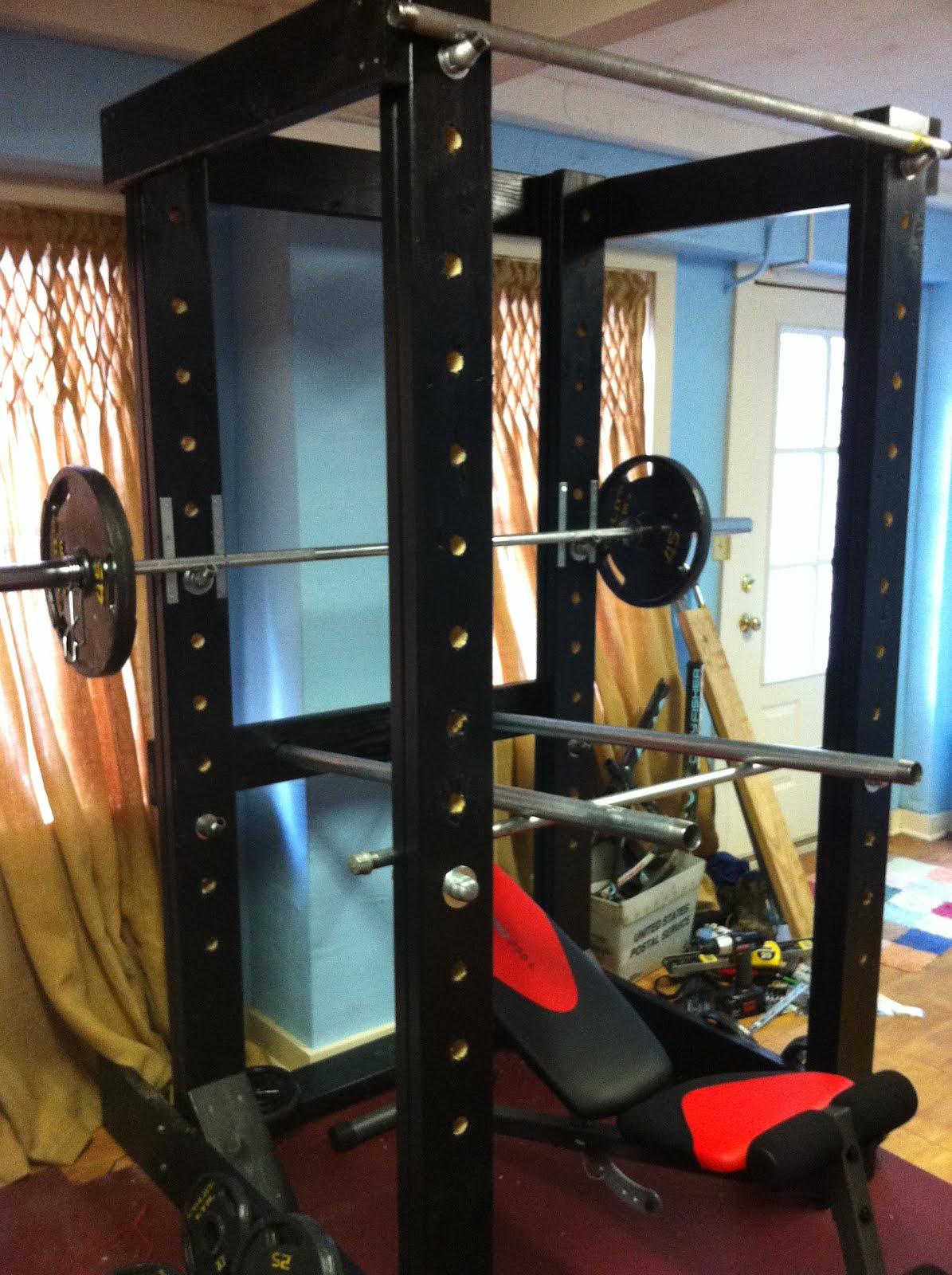 Homemade power rack metal homemade ftempo for Diy squat rack metal